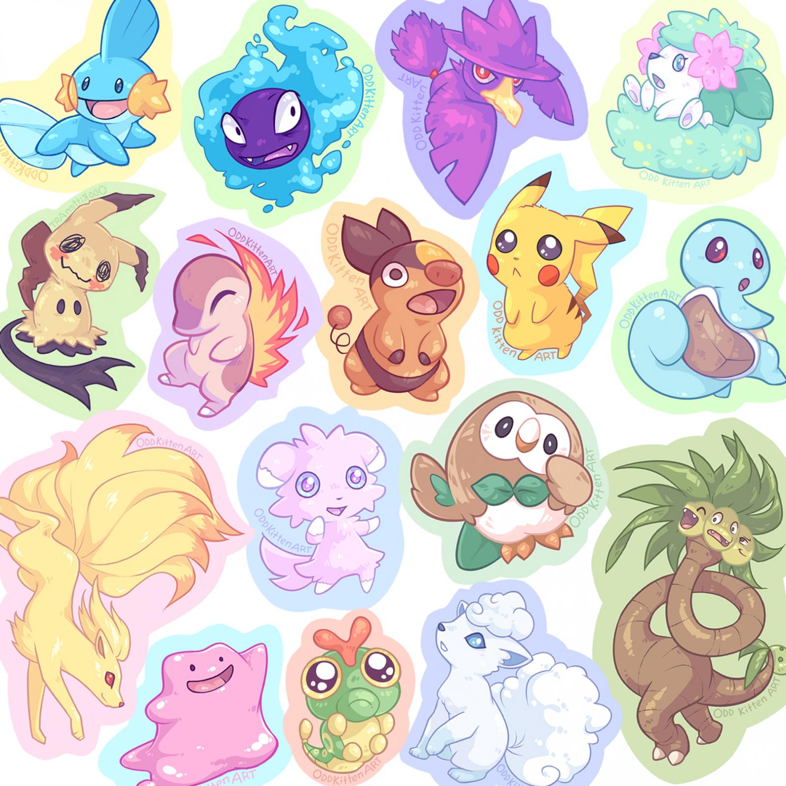 Stickers Pokemon.Pokemon Stickers
